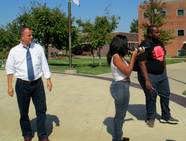 Lincoln University journalism students combine academic and field experience as part of their degree program. (photo by Trinita Birch/LU journalism student)