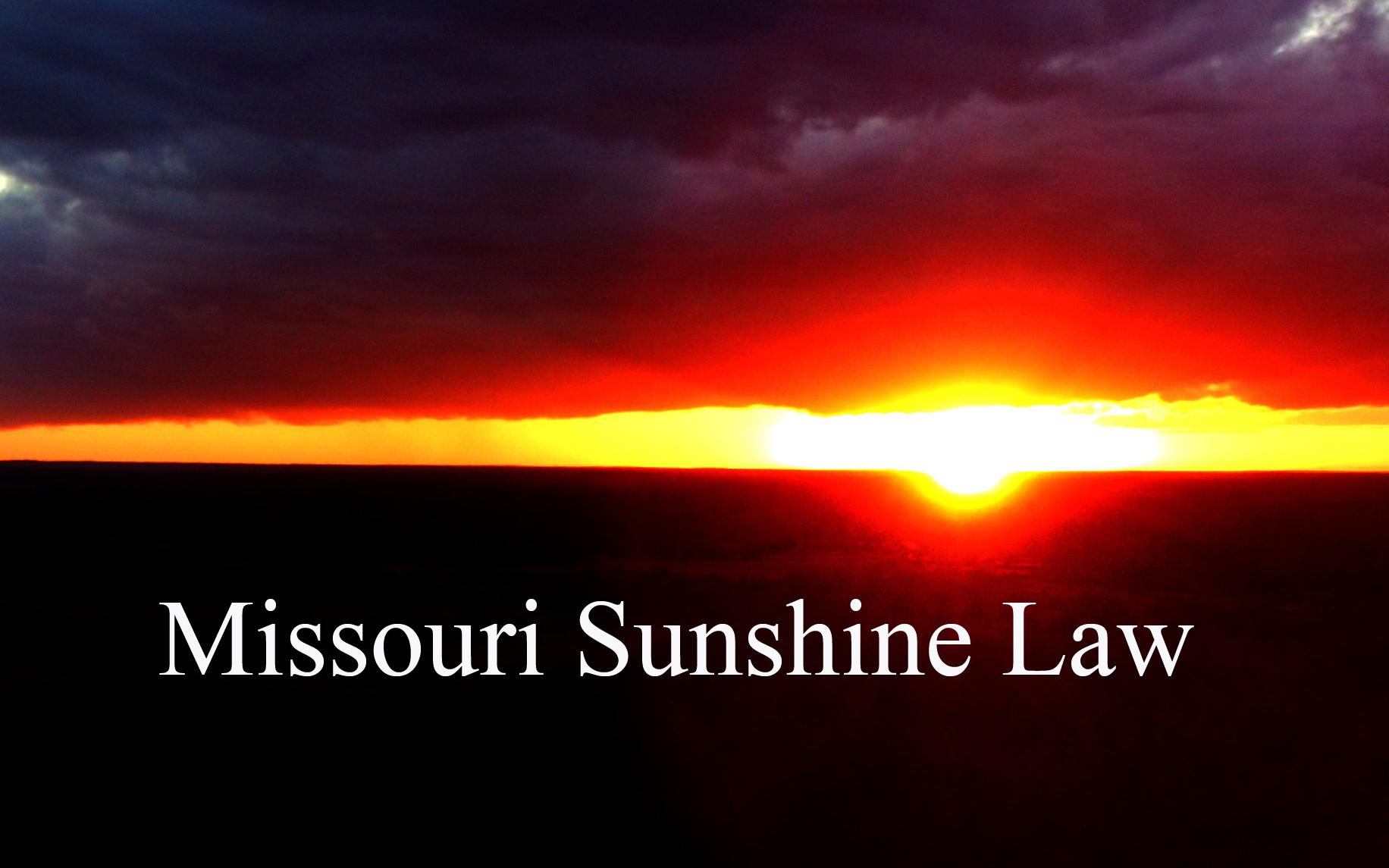 Missouri Sunshine Law (Clarion News Graphic)